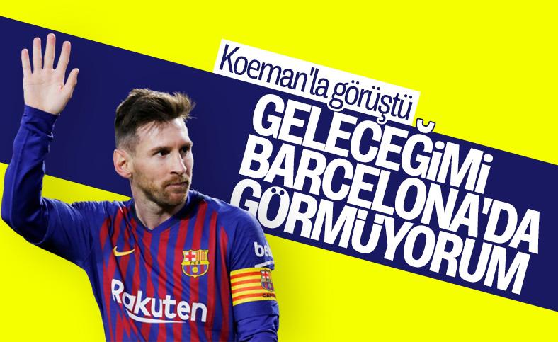 Messi: Barselona şehrinde gelecek göremiyorum