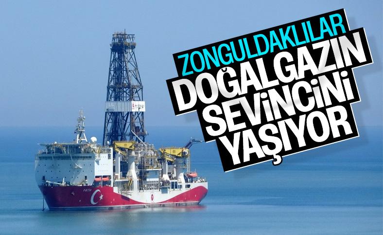 Zonguldak'ta doğalgaz heyecanı yaşandı