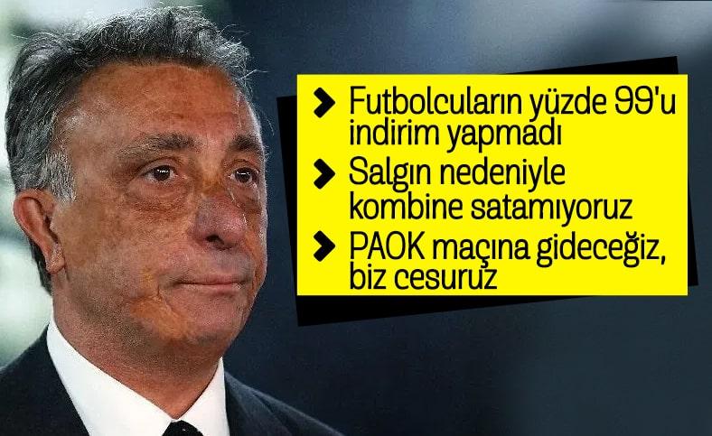 Ahmet Nur Çebi: Futbolcuların %99'u indirim yapmadı