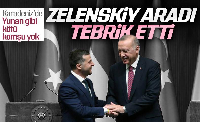 Vladimir Zelenskiy'den Cumhurbaşkanı Erdoğan'a tebrik telefonu