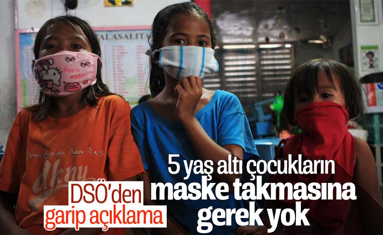DSÖ: 5 yaş altı çocukların maske takmasına gerek yok