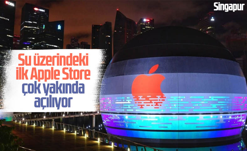 Apple'dan tamamen su üzerinde duran mağaza