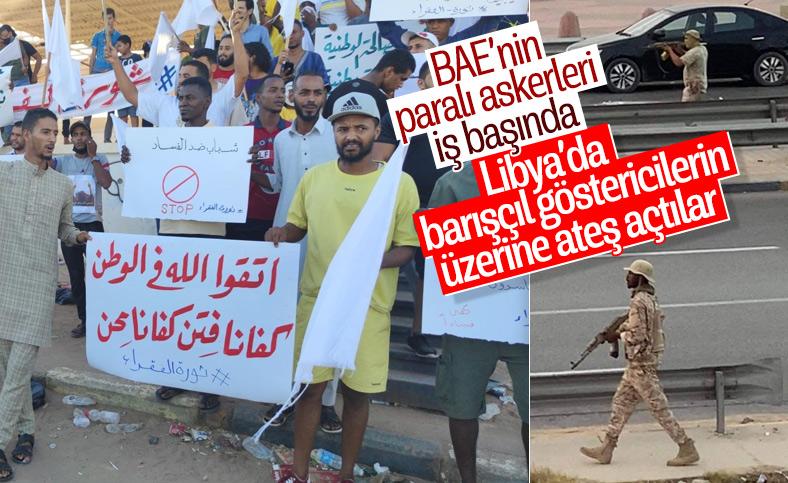 Libya'da barışçıl protestolarda BAE provokasyonu