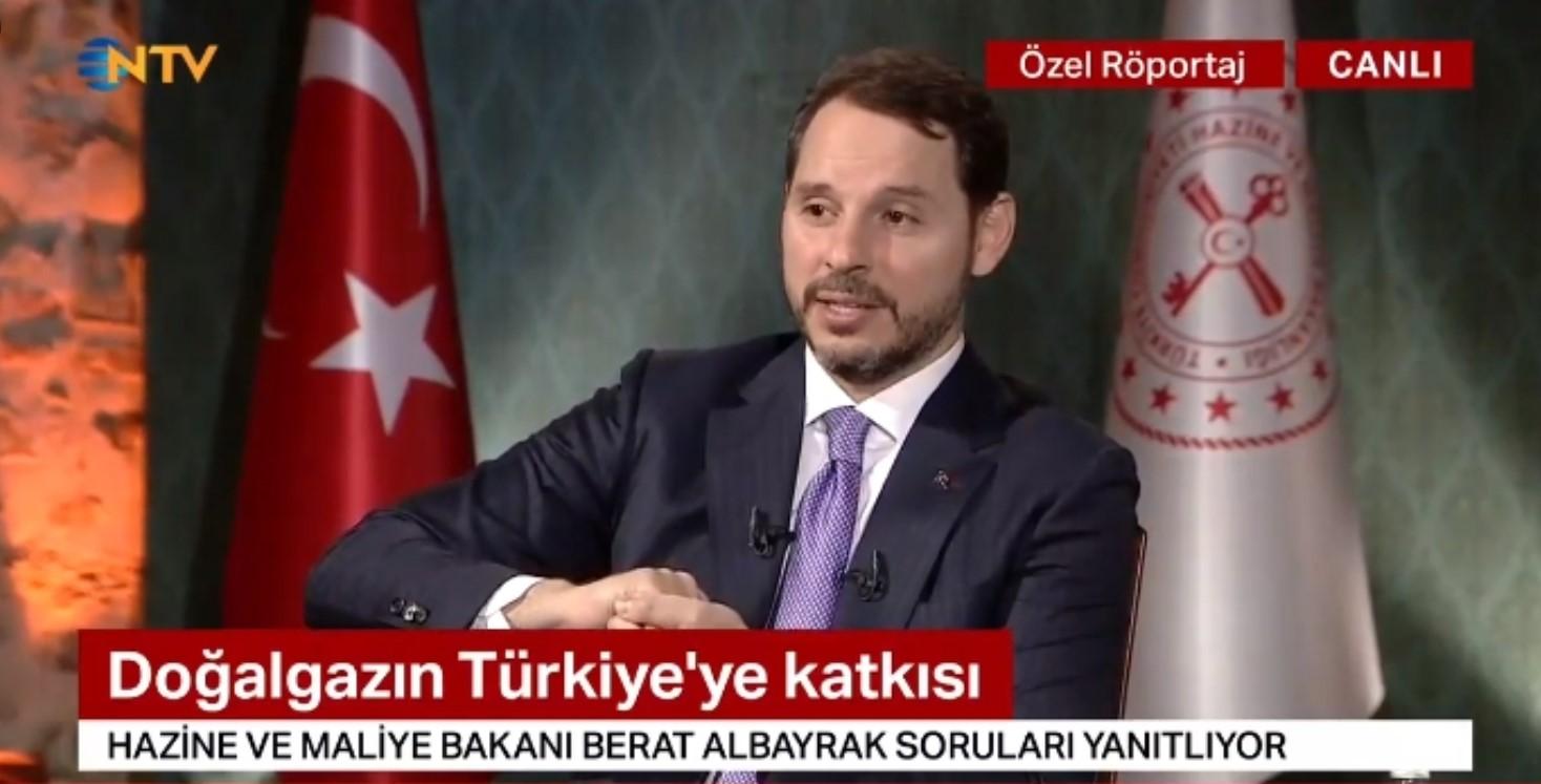 Berat Albayrak NTV canlı yayınında #1