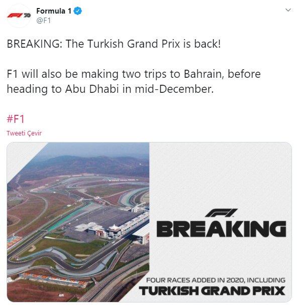 Formula 1, İstanbul a geri döndü #1