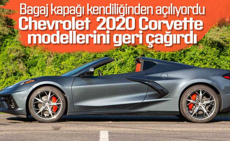 Chevrolet, 2020 Corvette modellerini geri çağırmaya başladı