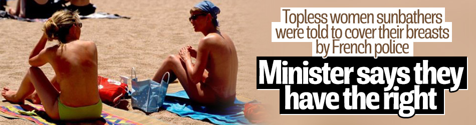 French government defends topless sunbathing