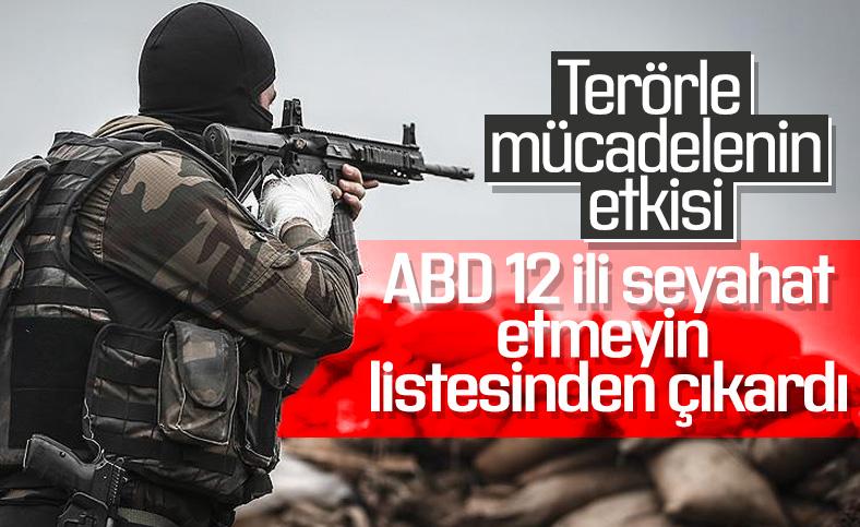 ABD, Türkiye'de 12 ile seyahat uyarısını kaldırdı