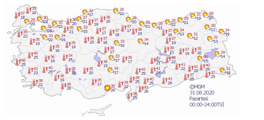 Türkiye de 5 günlük hava durumu  #5