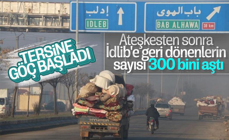 300 binden fazla Suriyeli gönüllü olarak İdlib'e döndü