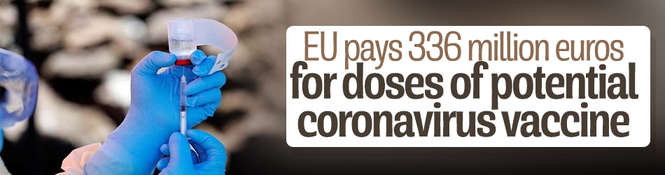 EU pays 336 million euros for coronavirus vaccine