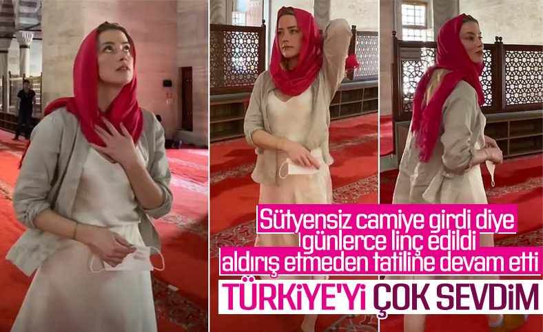 Amber Heard'den Türkiye'ye veda