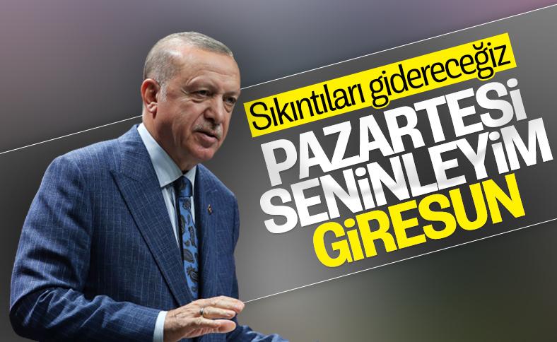 Cumhurbaşkanı Erdoğan Giresun'a gidecek