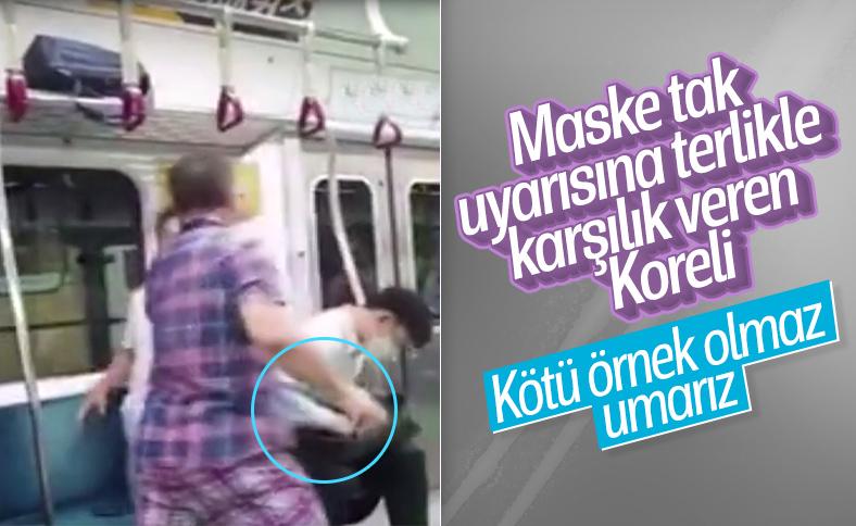 Güney Kore'de metroya maskesiz bindi, uyarılınca yolculara saldırdı