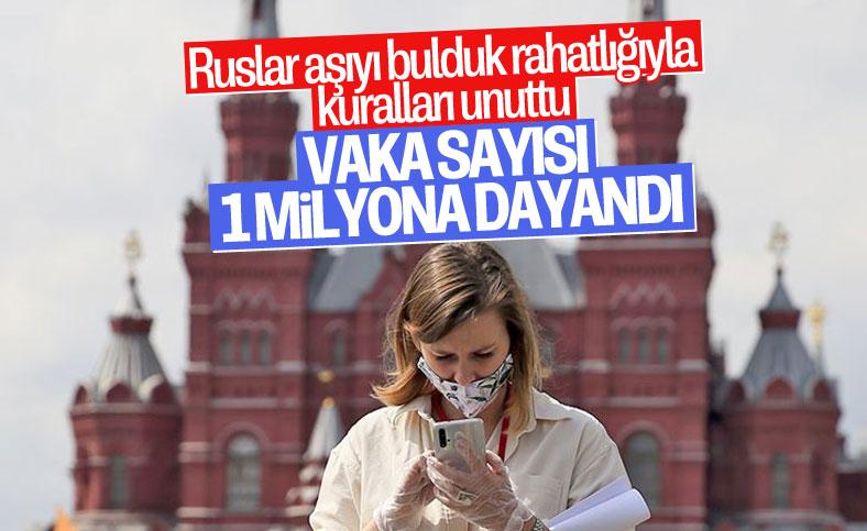 Rusya'da koroanvirüs vaka sayısı 1 milyona yaklaştı