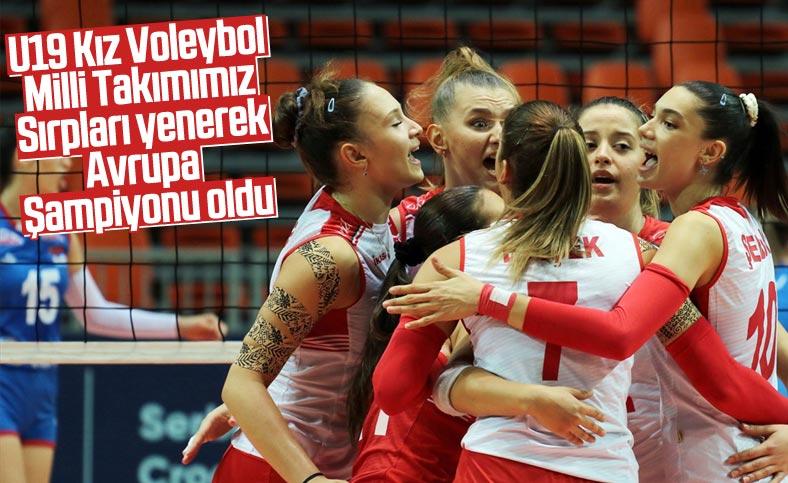 U19 Kız Voleybol Milli Takımı Avrupa Şampiyonu oldu.