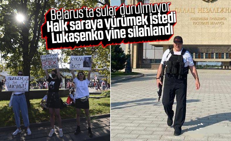 Belarus'ta göstericiler Stella Meydanı'na yürüdü