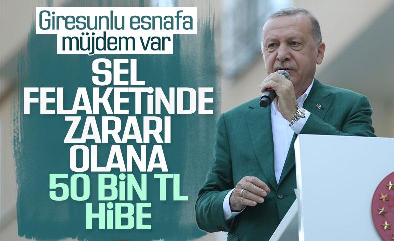 Cumhurbaşkanı Erdoğan, Giresun'da selzedelere seslendi