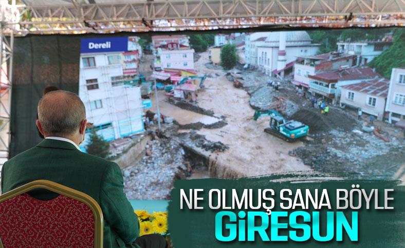 Cumhurbaşkanı Erdoğan, Giresun'da