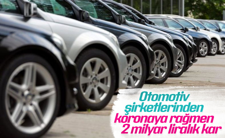 Otomotiv şirketleri yılın ilk yarısında 2 milyar lira kâr etti