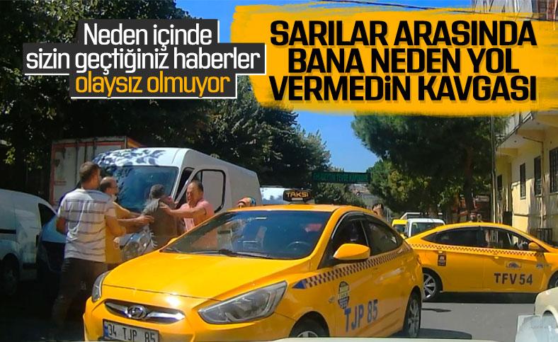 Bağcılar'da taksicilerin sopalı kavgası