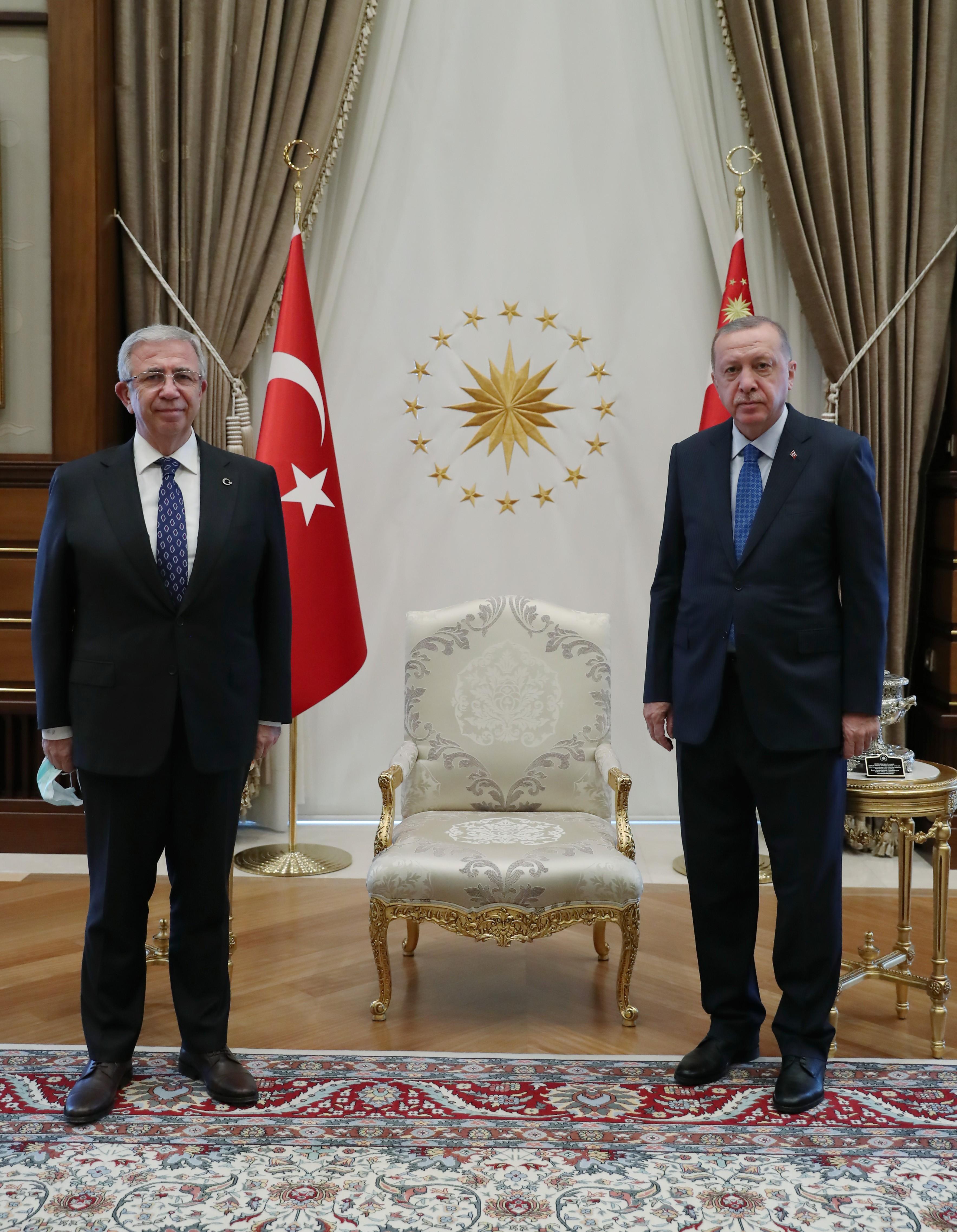 Cumhurbaşkanı Erdoğan, Mansur Yavaş ı Külliye de kabul etti #1