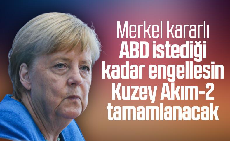 Merkel: Kuzey Akım-2 tamamlanacak