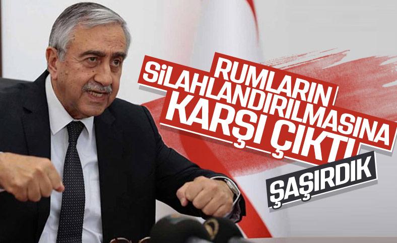 Mustafa Akıncı Rum Kesimi'ne silah ambargosunun kaldırılmasına tepkili