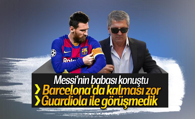 Messi'nin babası: Barcelona'da kalması zor