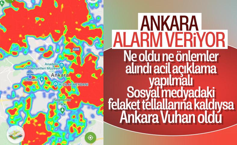 En yüksek koronavirüs vaka sayısı Ankara'da