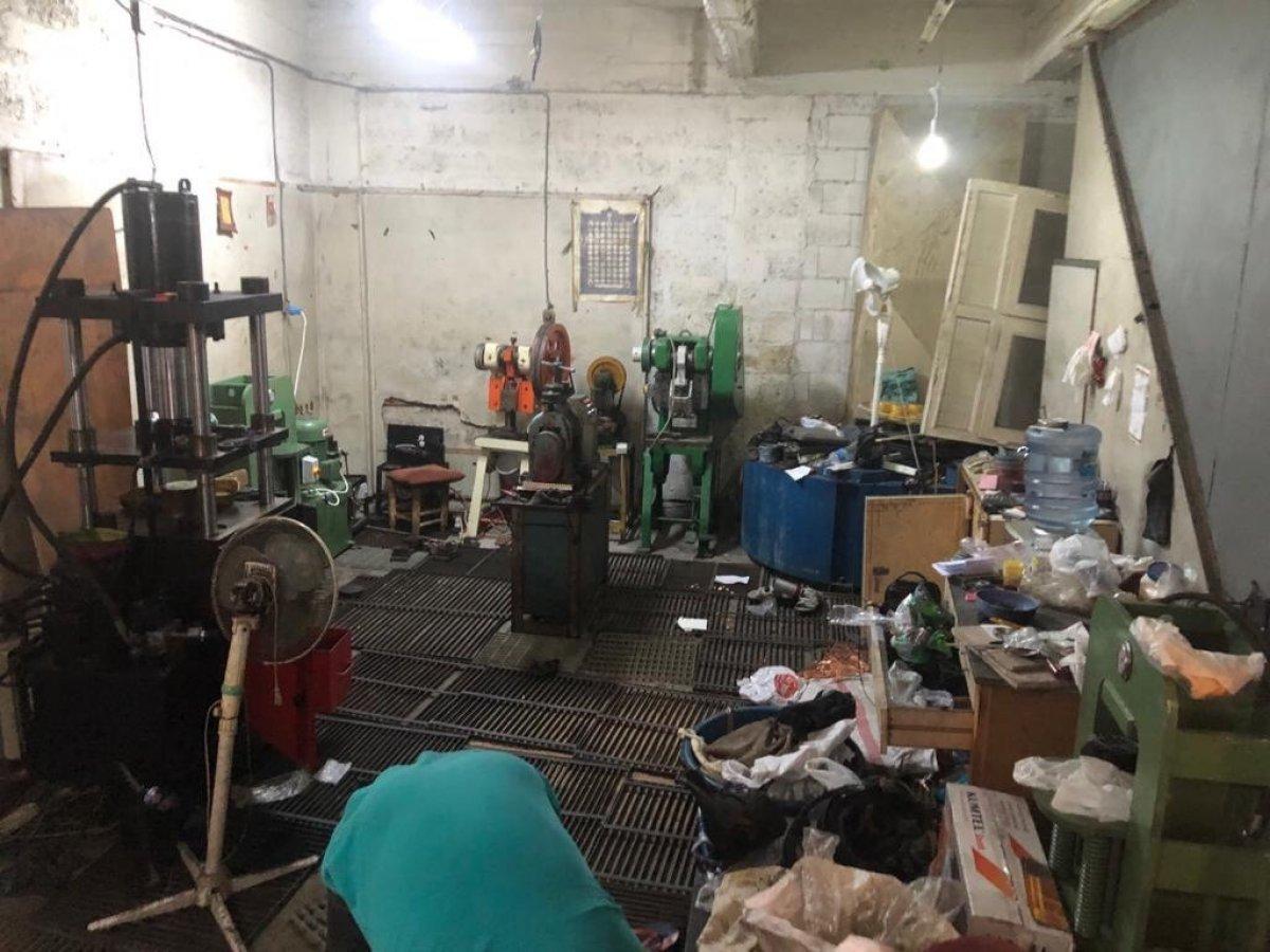 Gaziantep'te sahte altın üreten atölyeye baskın #5