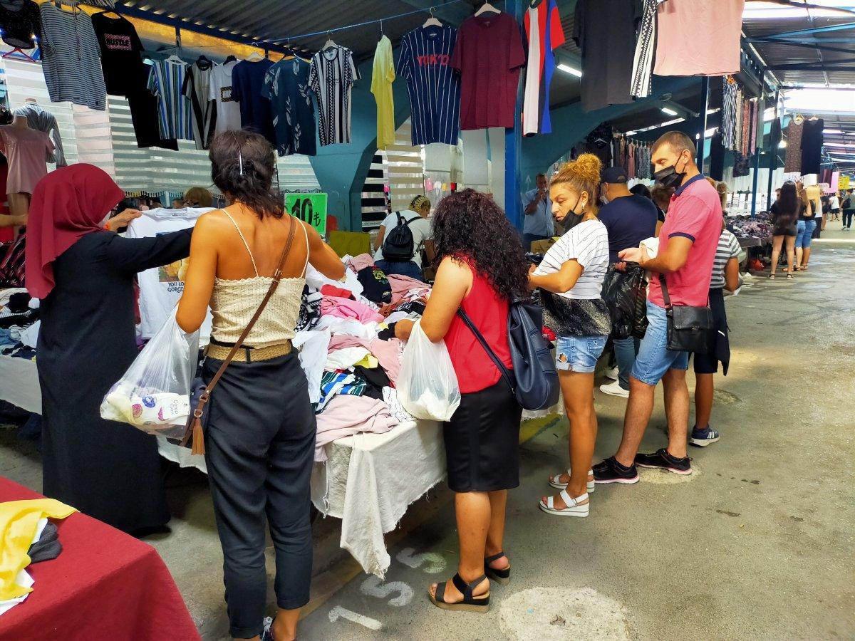 Edirne de Bulgar turistlerin akın ettiği pazar kapatıldı #3
