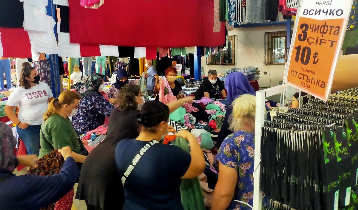 Edirne de Bulgar turistlerin akın ettiği pazar kapatıldı #4