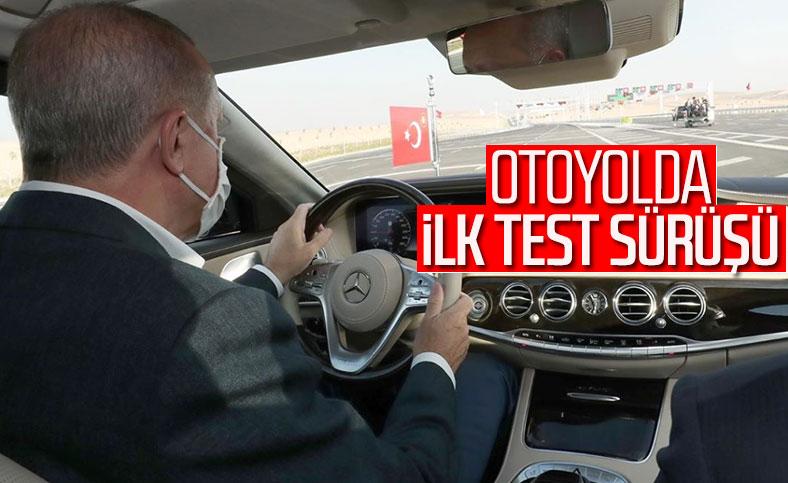 Cumhurbaşkanı Erdoğan'dan Ankara-Niğde Otoyolu'nda test sürüşü