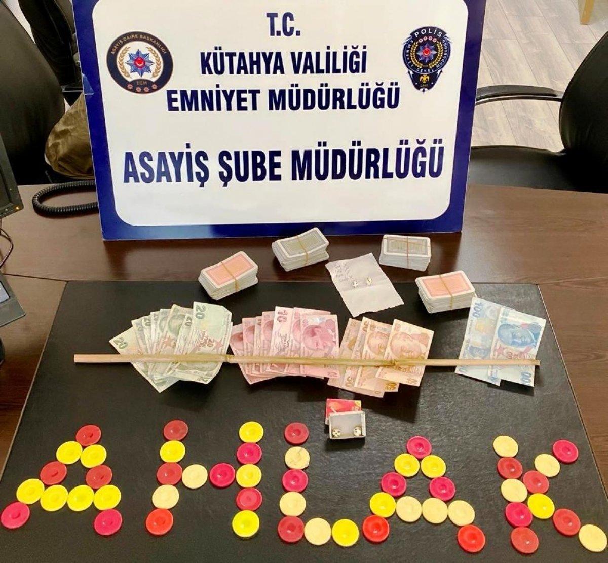 Kütahya da kumar operasyonu: 18 gözaltı #1