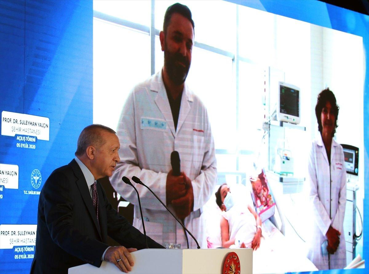 Cumhurbaşkanı Erdoğan, Göztepe Şehir Hastanesi ni hizmete açtı #9