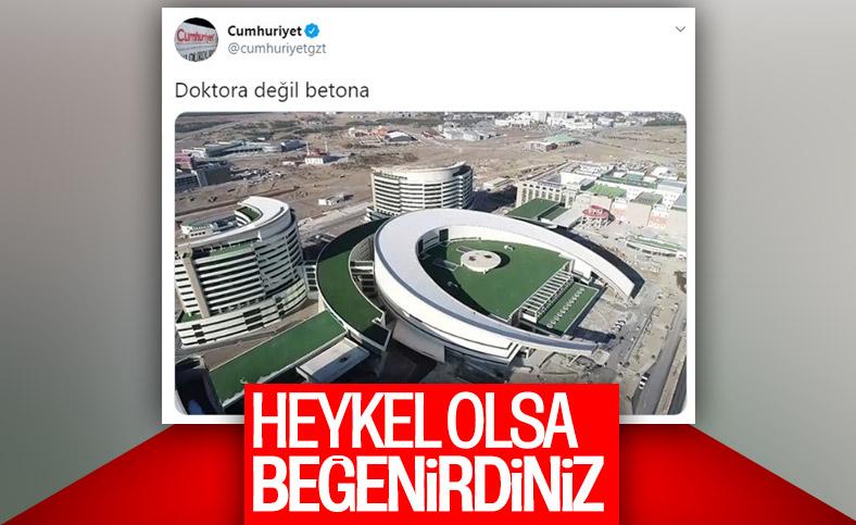 Cumhuriyet gazetesinin şehir hastaneleri rahatsızlığı