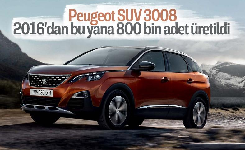 Peugeot SUV 3008, 800 bin üretim barajını geçti