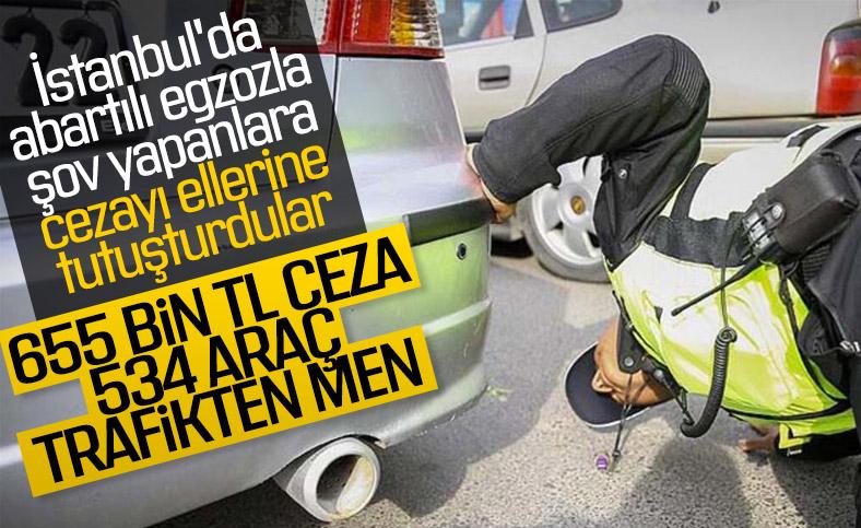 İstanbul'da, abartılı egzozlu araçlara ceza yağdı