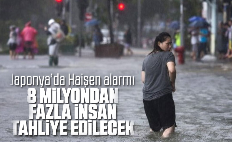 Japonya'da Haişen tayfunu nedeniyle 8 milyon kişinin tahliyesi istendi
