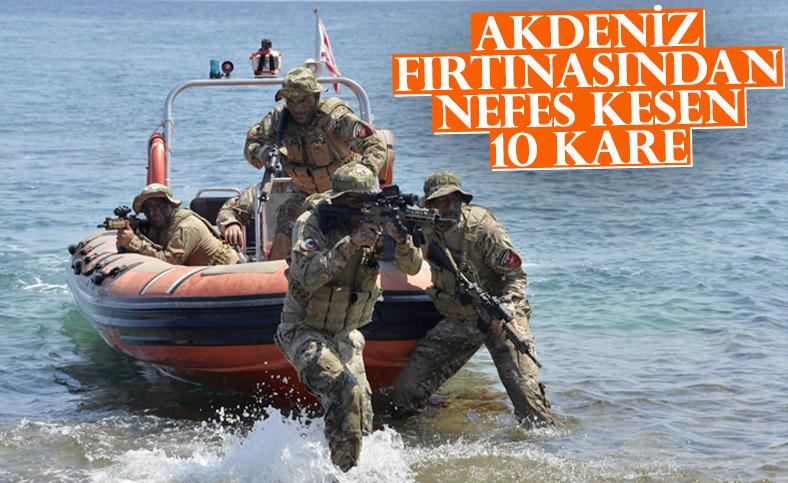 Milli Savunma Bakanlığı'ndan, Şehit Yüzbaşı Cengiz Topel Akdeniz Fırtınası Tatbikatı paylaşımı
