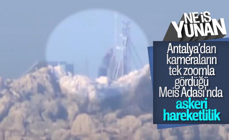 Yunan askerleri Meis Adası'nda telsiz noktasını onardı