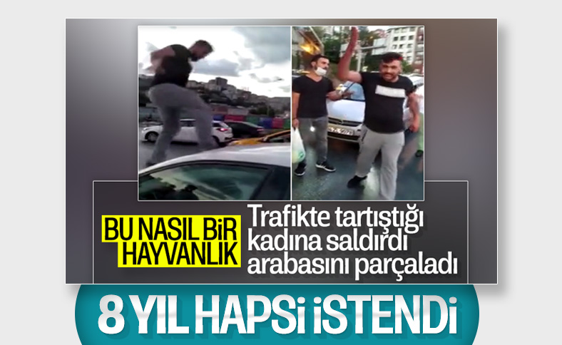Alibeyköy'de tartıştığı kadına saldıran zanlı soruşturması tamamlandı