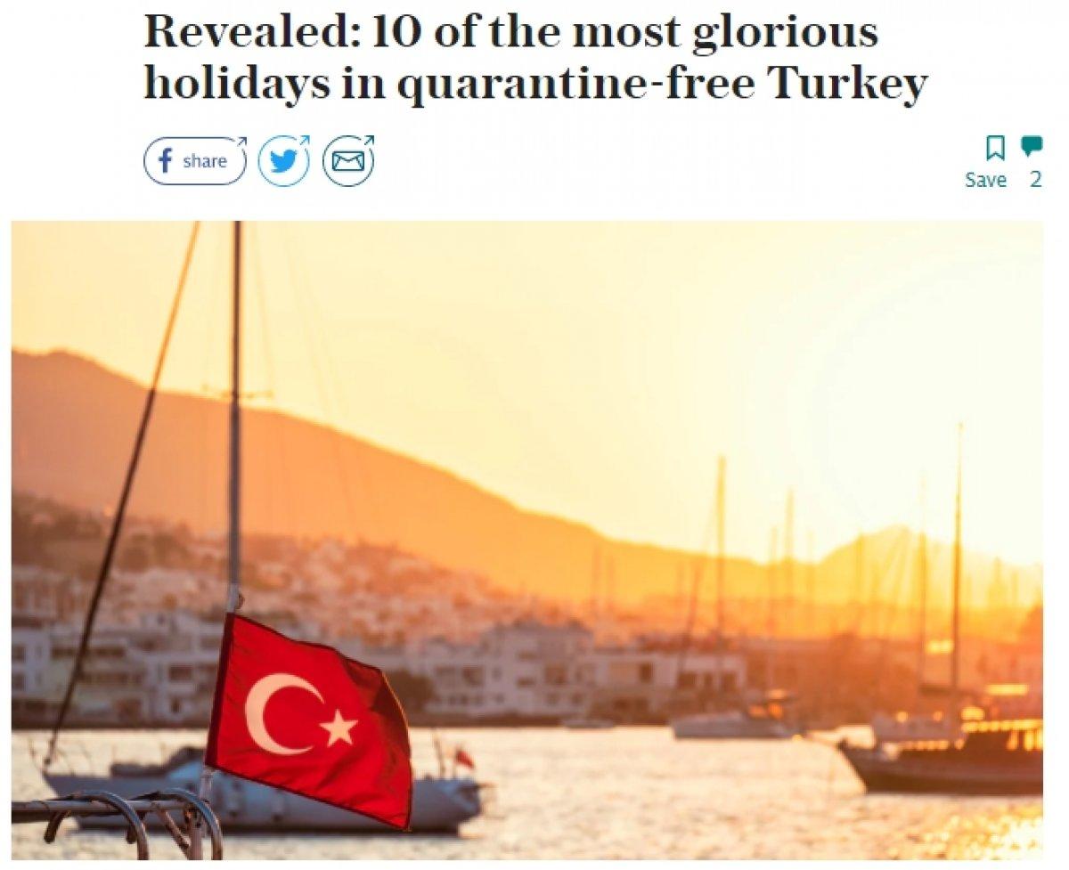 İngiliz medyasından tatil için Türkiye ye övgü dolu sözler #1