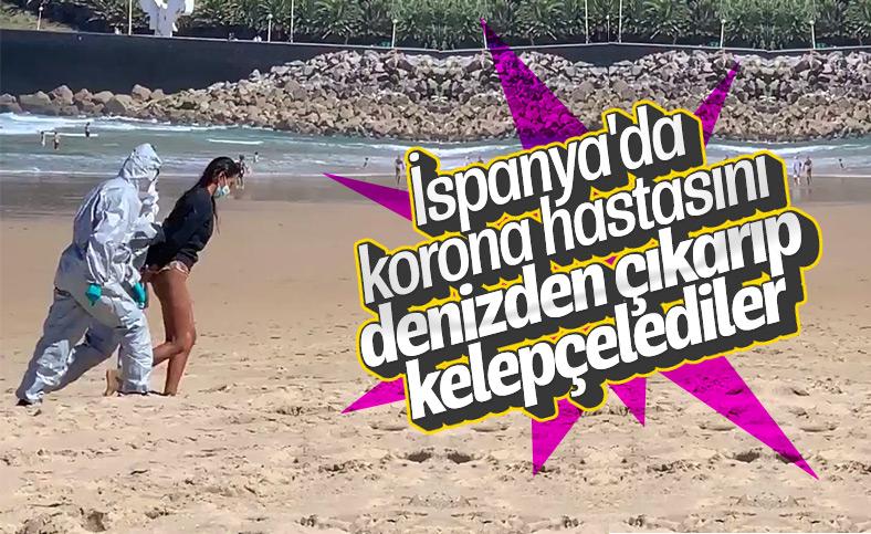 İspanya'da virüslü kadın denizde yakalandı