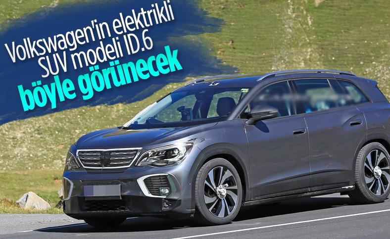 Volkswagen'in elektrikli SUV modeli ID.6 kameralara yakalandı