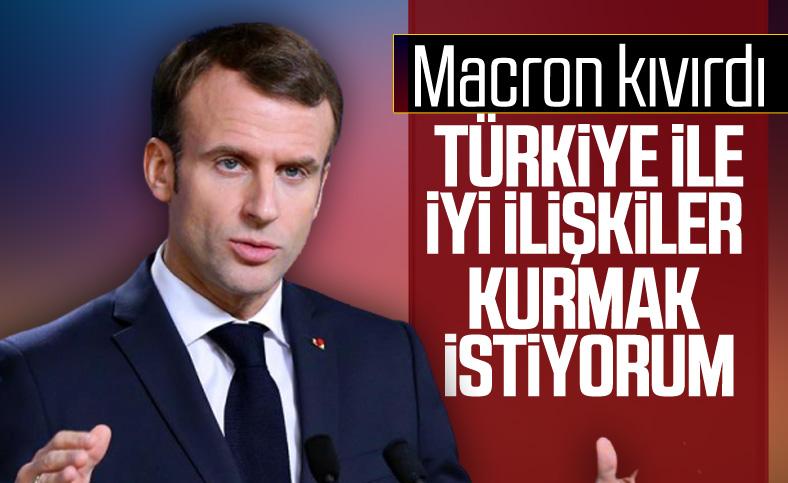 Macron: Türkiye ile iyi niyetle yeniden ilişki kurmak istiyoruz