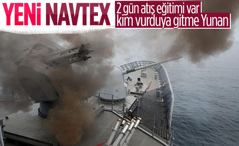 Türkiye, Akdeniz'de atış eğitimi için yeni Navtex yayınladı