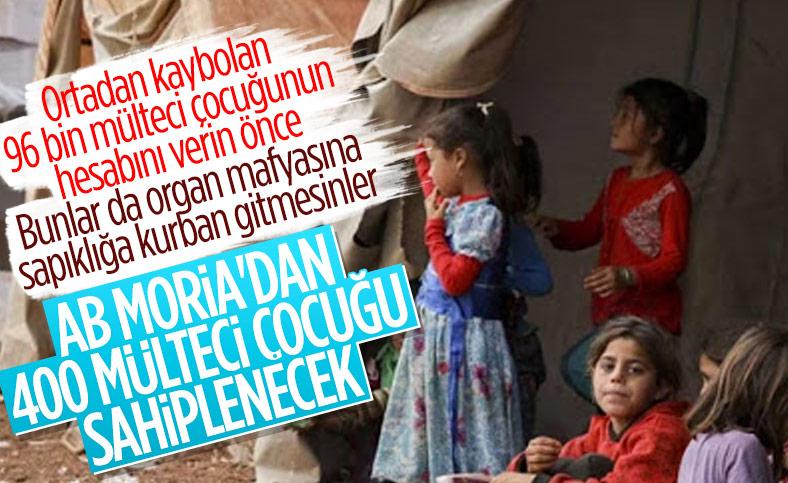 AB üyesi 10 ülke, Moria'daki mültecilerden 400 çocuğa kapılarını açıyor