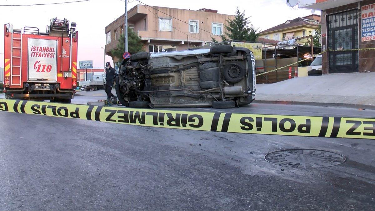 Sancaktepe de kaza yapan sürücü yaşamını yitirdi #1